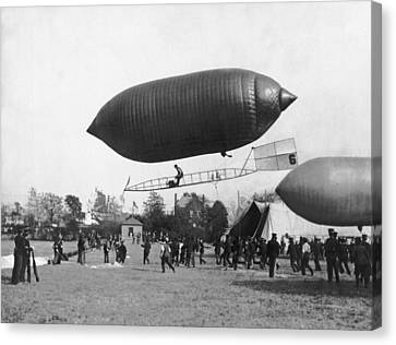 The Beachey Airship Canvas Print by Underwood Archives