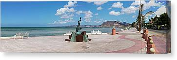 The Beachside Strolling Malecon Canvas Print by Panoramic Images