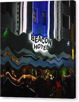 Canvas Print featuring the photograph The Beacon Hotel by Gary Dean Mercer Clark