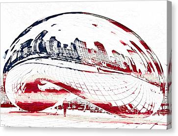Us Capital Canvas Print - The Bean - American Icon by Celestial Images