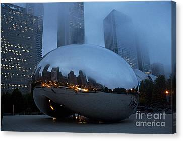 The Bean And Fog Canvas Print by Crystal Nederman