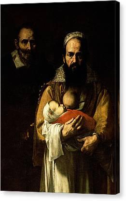The Bearded Woman Breastfeeding, 1631 Canvas Print by Jusepe de Ribera