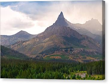 Canvas Print featuring the photograph The Beartooth Mountains   by Lars Lentz