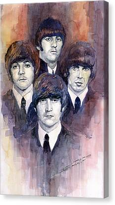 The Beatles 02 Canvas Print by Yuriy  Shevchuk