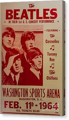 The Beatles 1st U.s. Concert Canvas Print by Mitch Shindelbower