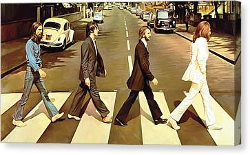 The Beatles Abbey Road Artwork Canvas Print by Sheraz A