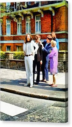 The Beatles Abbey Road Canvas Print by Vincent Monozlay