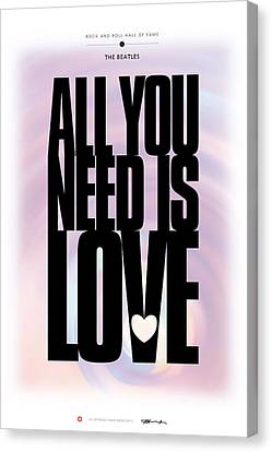 The Beatles - All You Need Is Love Canvas Print by David Davies