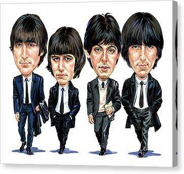 Famous Musician Canvas Print - The Beatles by Art