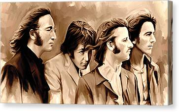 The Beatles Artwork 4 Canvas Print by Sheraz A