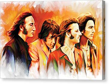 The Beatles Artwork Canvas Print by Sheraz A