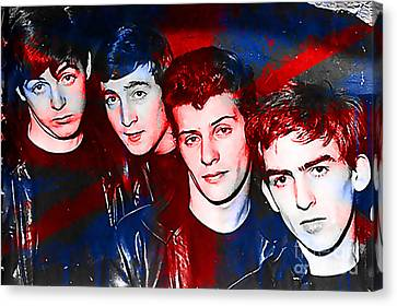 The Beatles Before Ringo Pete Best Painting Canvas Print by Marvin Blaine