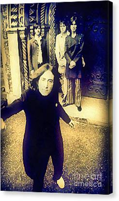 The Beatles - Camera Adjustment Canvas Print by Paulette B Wright