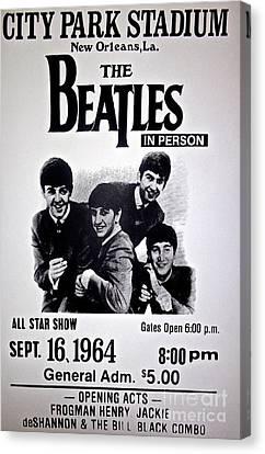 The Beatles Circa 1964 Canvas Print by Saundra Myles