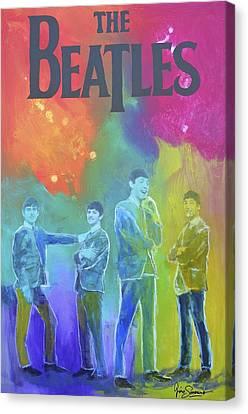 The Beatles Canvas Print by Gino Savarino