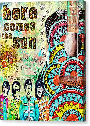 The Beatles Here Comes The Sun Canvas Print by Tara Richelle