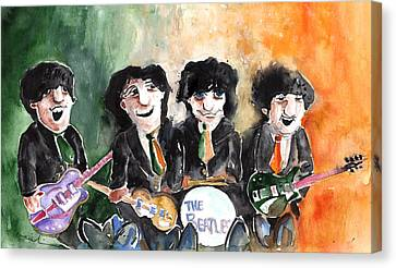 Guitarist George Harrison Canvas Print - The Beatles In Ireland by Miki De Goodaboom