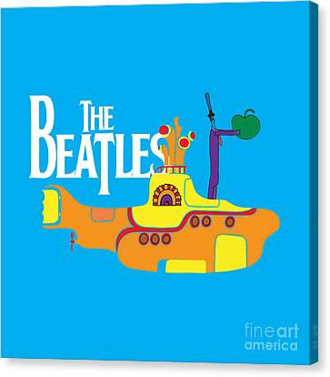 Rock Music Canvas Print - The Beatles No.11 by Caio Caldas