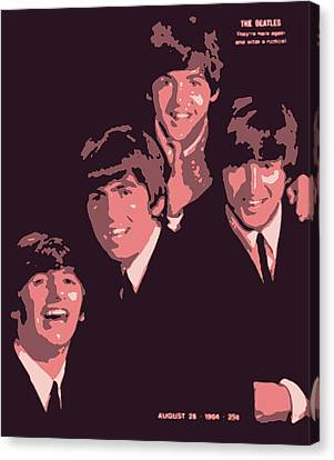 The Beatles On The Cover Of Life Magazine 1964 Canvas Print