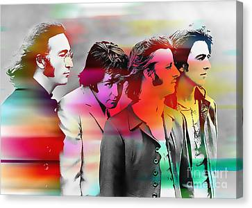 The Beatles Painting Canvas Print by Marvin Blaine