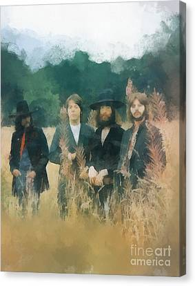 The Beatles Canvas Print by Paulette B Wright