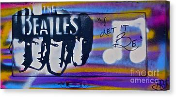 The Beatles Purple Canvas Print by Tony B Conscious