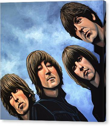 Realistic Canvas Print - The Beatles Rubber Soul by Paul Meijering