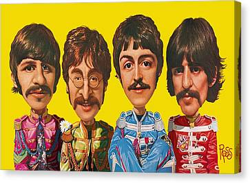 The Beatles Canvas Print by Scott Ross
