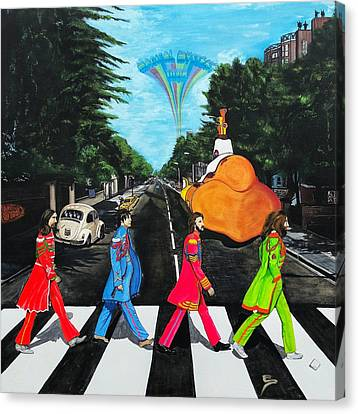 The Beatles Sgt Peppers Walk On Abby Road Canvas Print