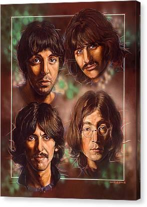 The Beatles Canvas Print by Tim  Scoggins
