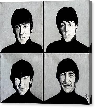 The Beatles Canvas Print by Tom Carlton