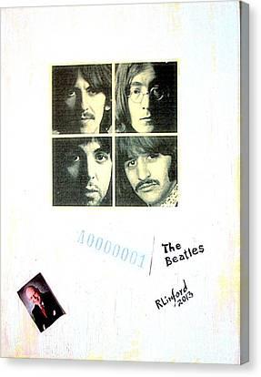 The Beatles White Album A0000001 Canvas Print by Richard W Linford