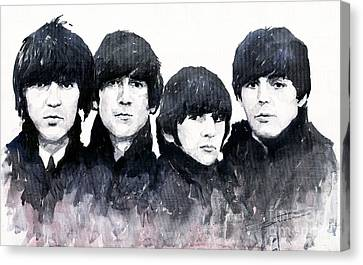The Beatles Canvas Print by Yuriy  Shevchuk