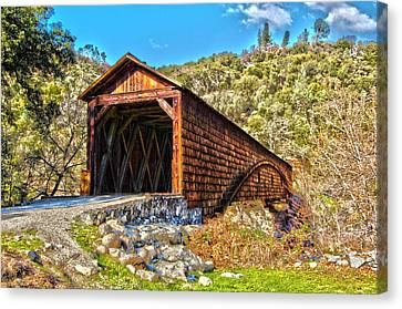 The Beautiful Bridgeport Covered Bridge Canvas Print by John Alves