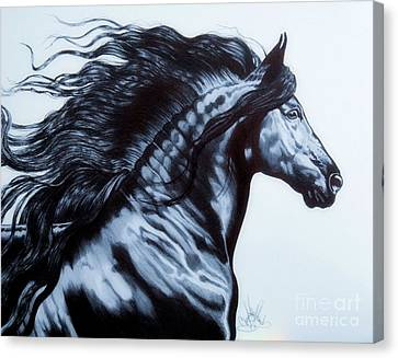 Friesian Horse Canvas Print - Frederik The Great - Beautiful Friesian   by Cheryl Poland