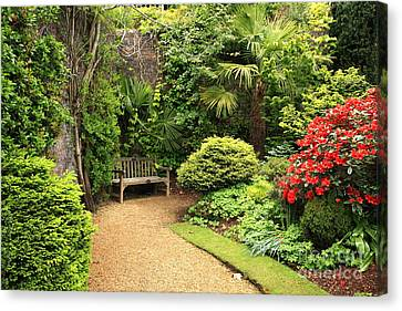 Johann Baptist Hofner Canvas Print - The Beautiful Garden by Boon Mee