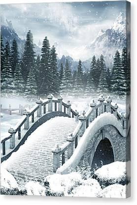 Johann Baptist Hofner Canvas Print - The Beautiful Gothic Winter Art by Boon Mee