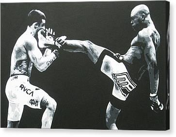 The Beautiful Kick Canvas Print