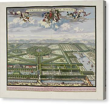 The Beautiful Park Of Enghien Canvas Print by British Library