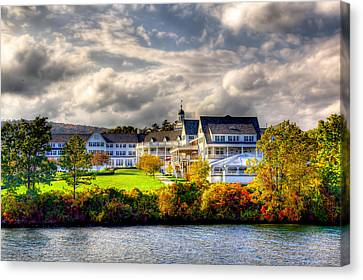 The Beautiful Sagamore Hotel On Lake George Canvas Print by David Patterson