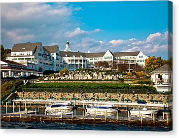 The Beautiful Sagamore Hotel On Lake George II Canvas Print by David Patterson