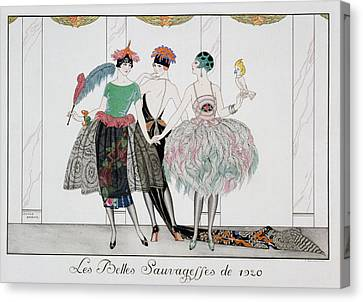 The Beautiful Savages Canvas Print by Georges Barbier