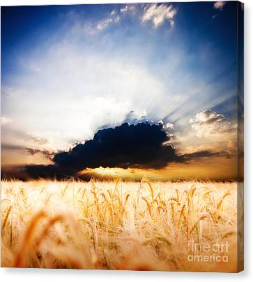 The Beautiful Sunset Canvas Print by Boon Mee