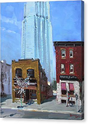 The Beauty N' The Background In London Canada Canvas Print by Ylli Haruni