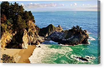 The Beauty Of Big Sur Canvas Print by Benjamin Yeager