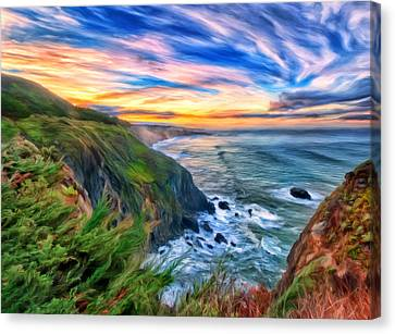 The Beauty Of Big Sur Canvas Print by Michael Pickett