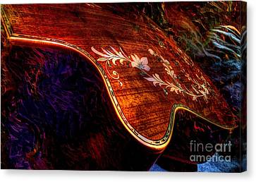 The Beauty Of Inlay Digital Guitar Art By Steven Langston  Canvas Print by Steven Lebron Langston
