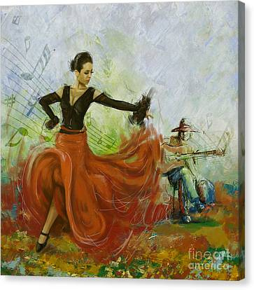The Beauty Of Music And Dance Canvas Print by Corporate Art Task Force
