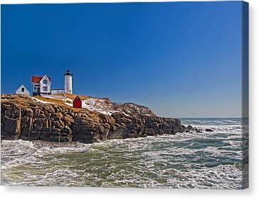 Nubble Lighthouse Canvas Print - The Beauty Of Nubble by Joann Vitali