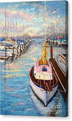Sausalito Canvas Print - The Beauty Of Sausalito  by Francesca Kee